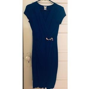 Cache royal blue dress w/ snake accent
